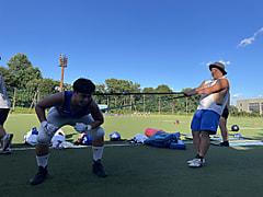 7月27日の選手の練習の様子