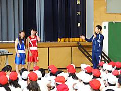 【初】小学校でのボクシング教室!