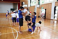 夏季合宿①-小学校での活動-