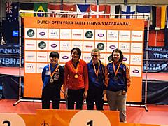 友野 ITTFパラオランダオープン準優勝!!