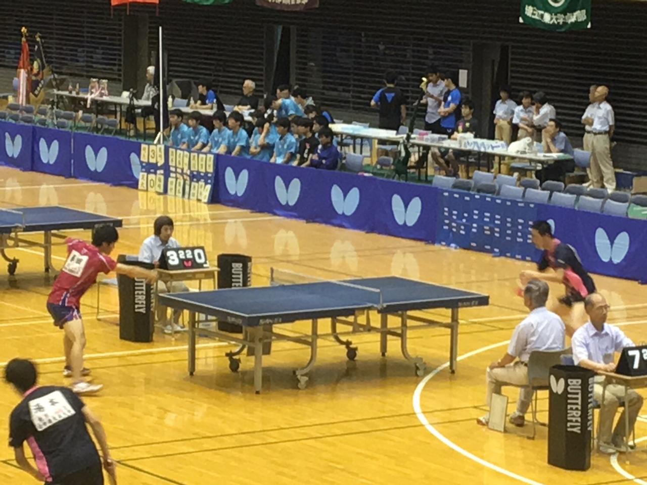 秋季関東学生卓球リーグ戦 前半戦