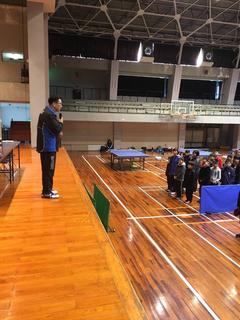 卓球技術講習会 ~宮崎県都城市~