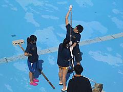 【飛込】プール掃除