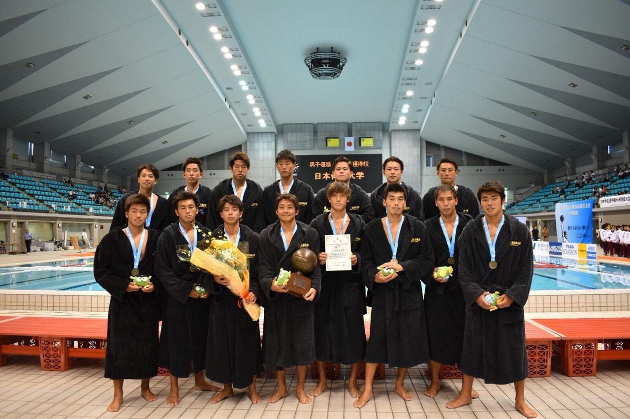 【水球ブロック】第94回日本学生選手権大会水泳競技大会〈水球競技〉結果報告
