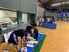 全日本学生レスリング選手権大会 救護 2日目