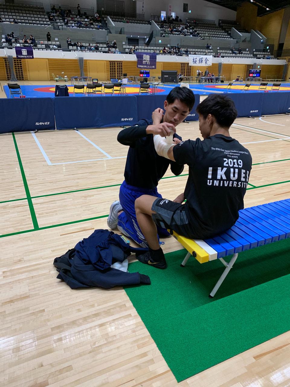 秋季東日本学生レスリング選手権 救護 1日目