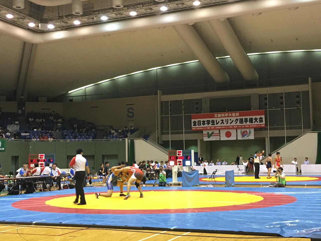 レスリング全日本学生選手権2日目