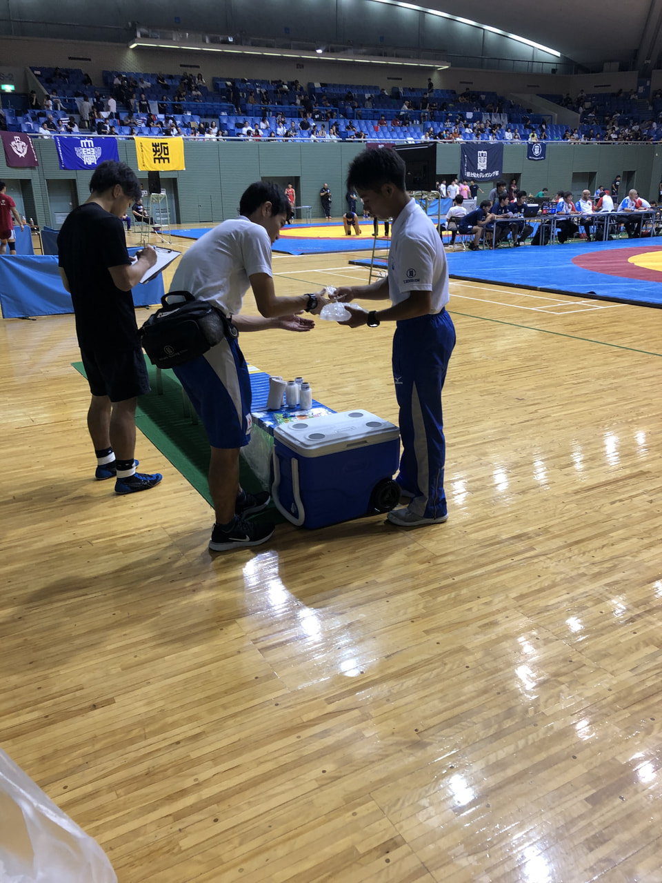 全日本学生レスリング選手権大会 1日目