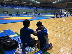 全日本レスリンググレコローマン選手権大会1日目