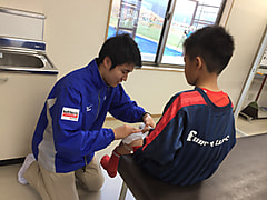 サッカーU12国際大会 トレーナー活動