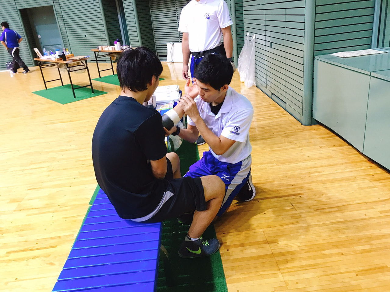 全日本学生レスリング選手権大会 救護 3日目