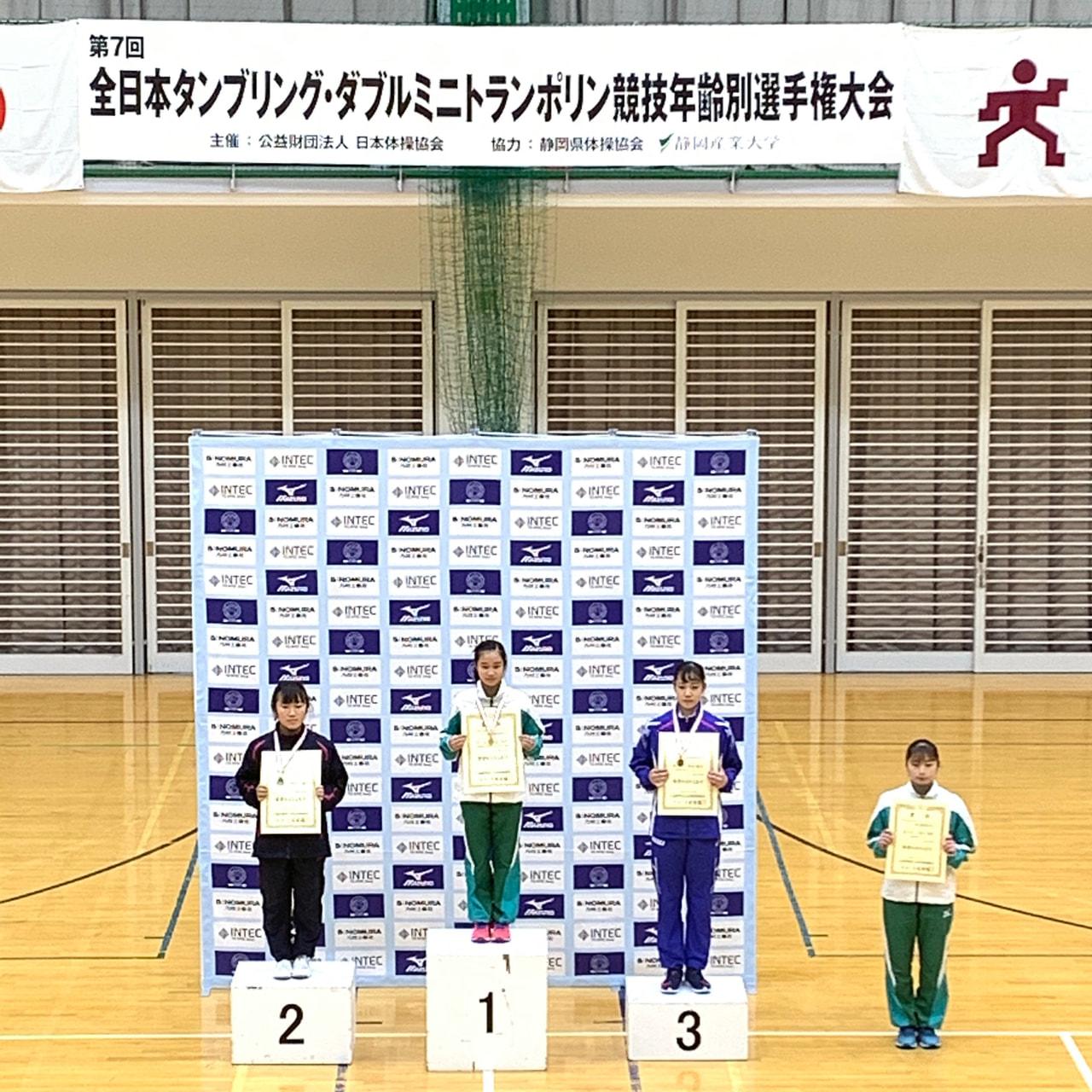第7回全日本タンブリング・ダブルミニトランポリン競技年齢別選手権大会
